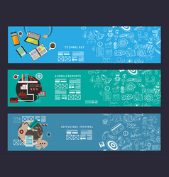 Business concept banner for teamwork and vector