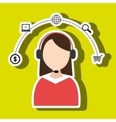 Call center online buy vector