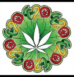 Cannabis hemp white leaf textured background vector