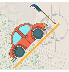 Car card vector
