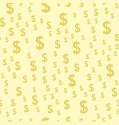 cartoon dollar currency symbol vector image