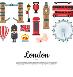Cartoon london sights with place for text vector