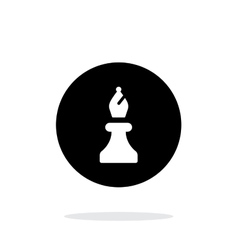 Chess Bishop simple icon on white background vector