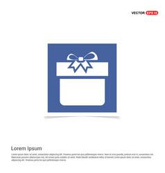christmas gift box icon - blue photo frame vector image