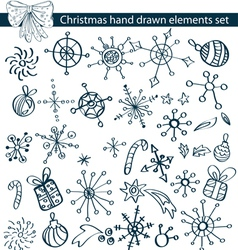 Christmas hand drawn set vector