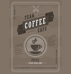 coffee menu design template vector image