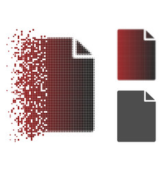 Dissolved pixelated halftone new file icon vector