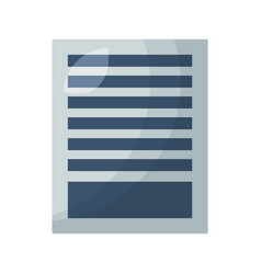 document paper sheet vector image