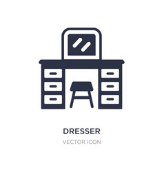 Dresser icon on white background simple element vector