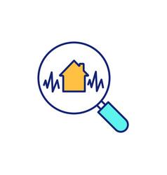 Earthquake engineering rgb color icon vector