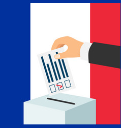 election in france concept vector image