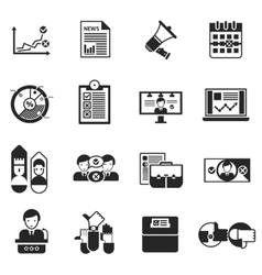 Elections voting icons black set vector