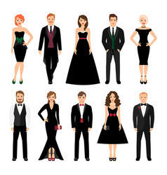 Elegant fashion people vector