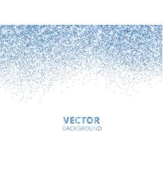 falling glitter confetti blue dust vector image