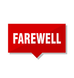 Farewell red tag vector