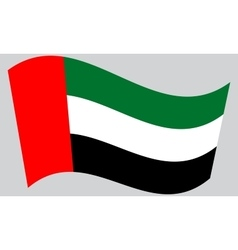Flag of the United Arab Emirates waving vector image