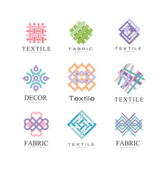 Flat set of original logos for fabric or vector
