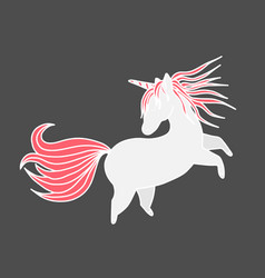 funny unicorn valentine s day design element vector image