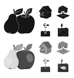 garden farming nature and other web icon in vector image