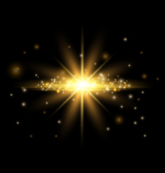 gold light effect shining star bokeh effect and vector image
