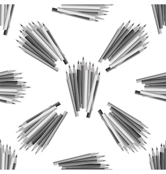 Grey Pencils Seamless Pattern vector