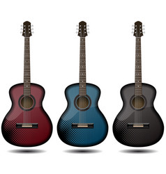 guitar set isolated on white background classic vector image