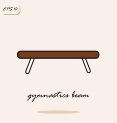 Gymnastics beam vector