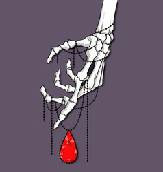 Hand skeleton tattoo vector