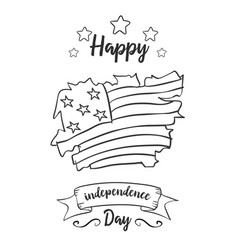Happy independence day card collection vector