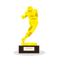 heisman memorial trophy gold reward vector image