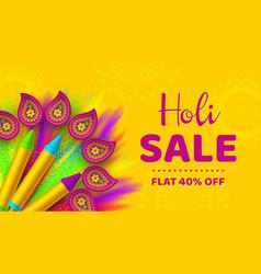 holi sale promotional background vector image