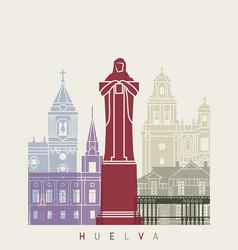 huelva skyline poster vector image