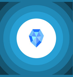 Isolated crystal flat icon gem element can vector