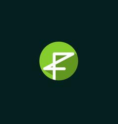 letter f line creative modern logo vector image