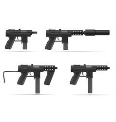 Machine submachine hand gun street gang weapons vector