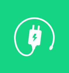 Mobile charger for phone icon vector