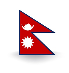 Nepal Flag vector image