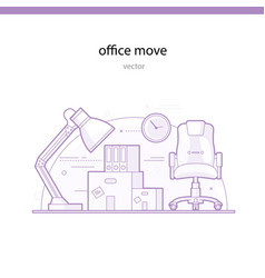 Office move line vector
