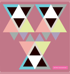 pattern with colorful geometric shapes vector image