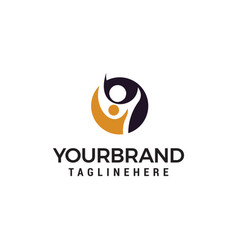 people care logo design concept template vector image