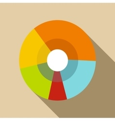 Pie chart icon flat style vector image