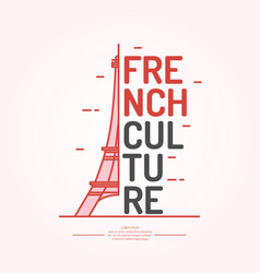 Poster of french culture isolated images vector