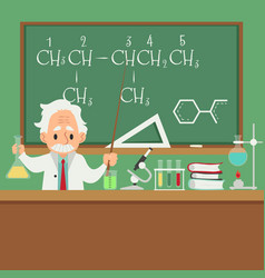 professor or scientist teaching in college or vector image