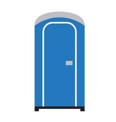Public toilet flat on white vector