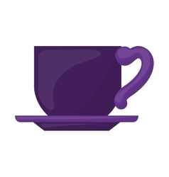 purple dish porcelain with cup vector image