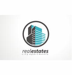 real estates logo estates renting icon renting vector image