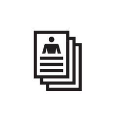 resume document icon design profile id vector image