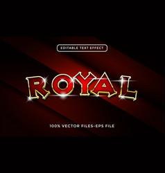 royal editable text effect premium vector image