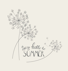 Say hello to summer natural background vector