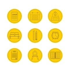 School icon set icons vector